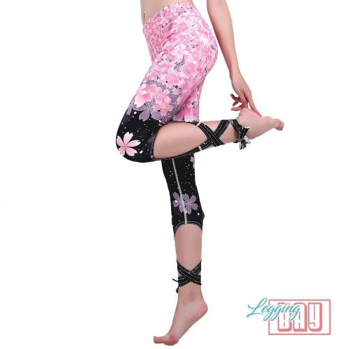 LaceUp | Floral Printed Lace Up Leggings