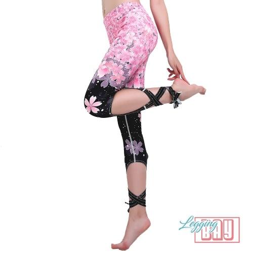 LaceUp | Leggings imprimés floraux avec lacets