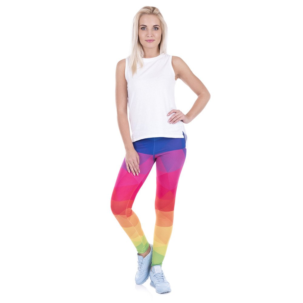 Grenat | Colorful Geometric Printed Leggings