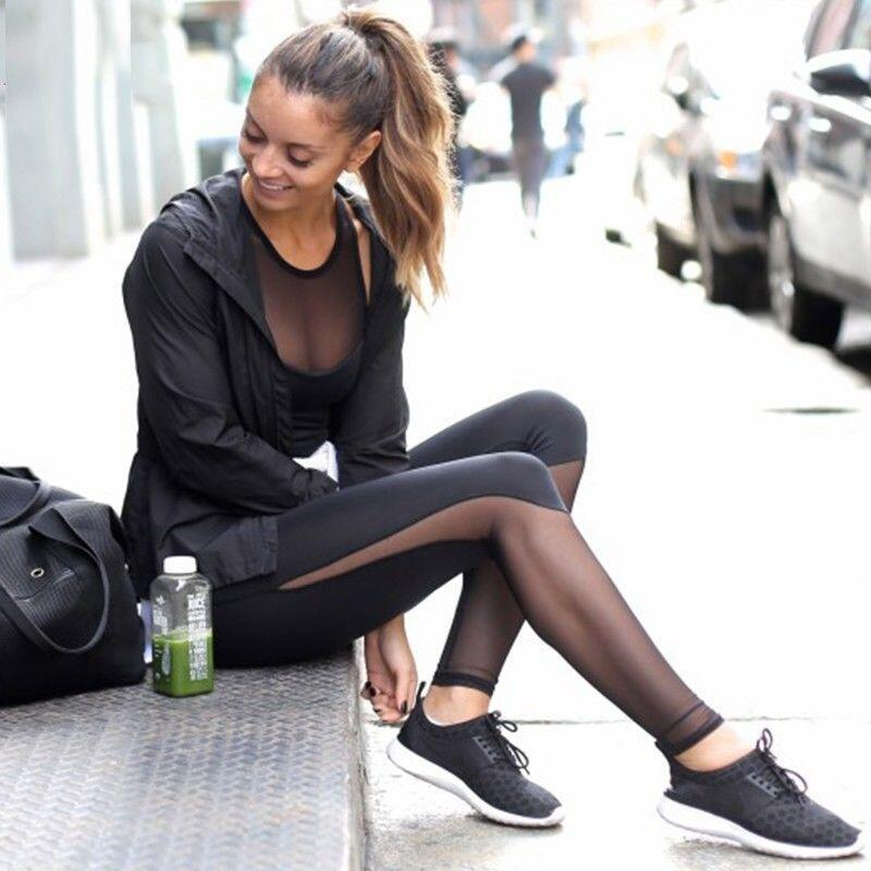 BlurSlit | Black Mesh Leggings
