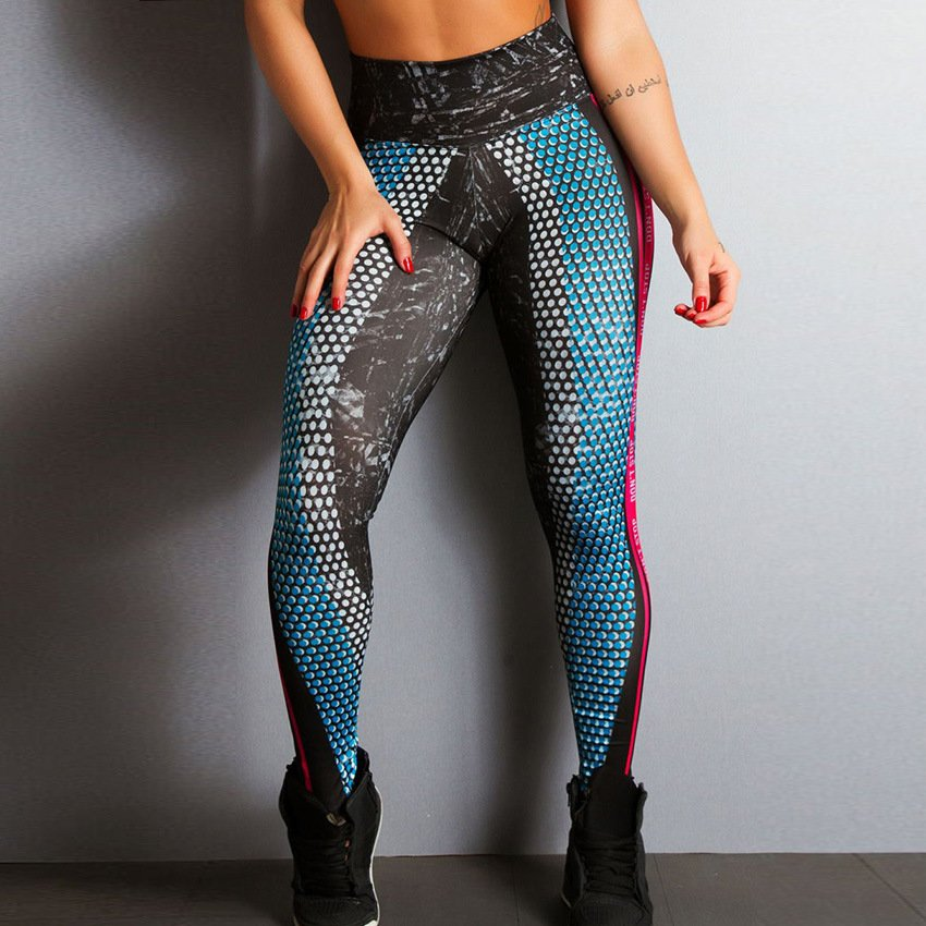 AzurMesh | Blue Printed Leggings