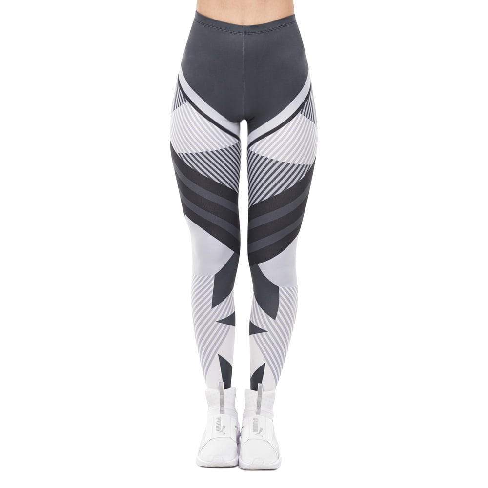 Shades | Grayscale Geometric Printed Leggings