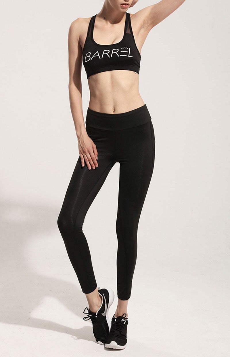 SidePan | Black Mesh Leggings