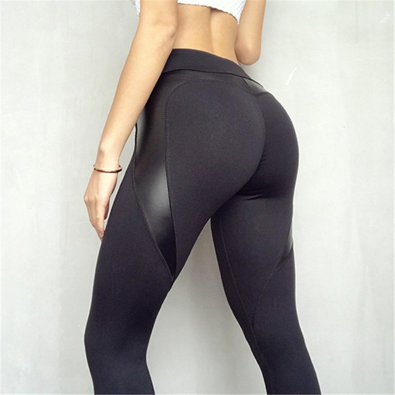 Leatherex | Black Push Up Leggings