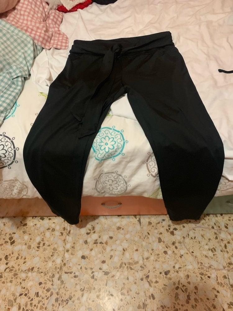 Knot | Drawstring Black Leggings photo review